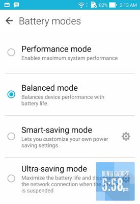 Penambahan pilihan power saver