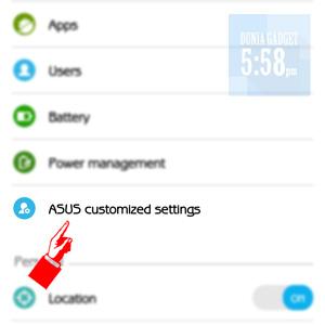 Cara menghilangkan icon tangan pada ASUS Zenfone