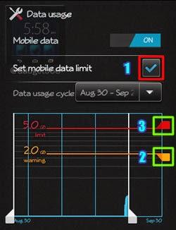Setting batas penggunaan data Android