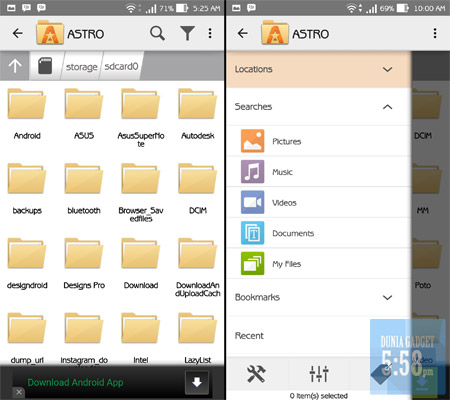 Fitur ASTRO File Manager