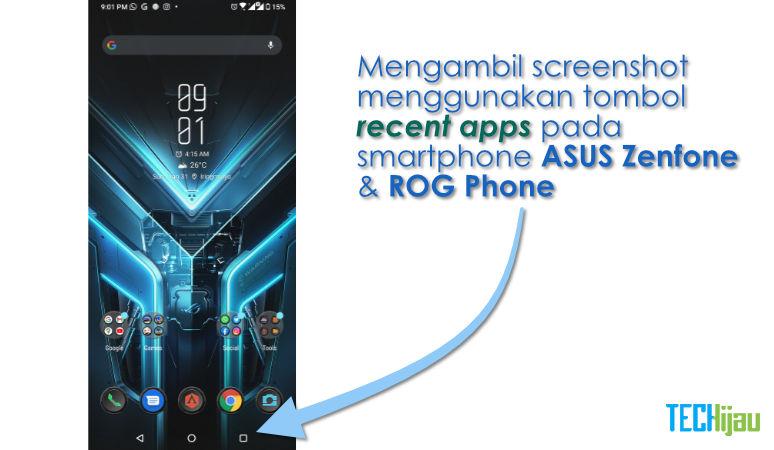 Cara cepat screenshot di ROG Phone 3