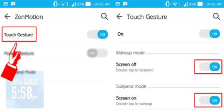 Menyalakan layar Zenfone 2 tanpa menekan tombol