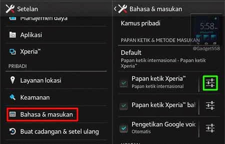 Setting keyboard android