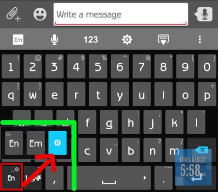 Mengatur keyboard ASUS Zenfone