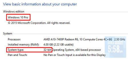 Melihat info spesifikasi pada laptop