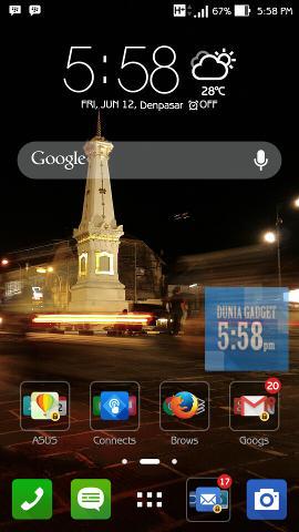 Contoh screenshot pada Android