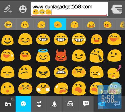 Menampilkan emoji keyboard ASUS