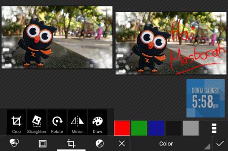 Fitur edit foto Zenfone Selfie