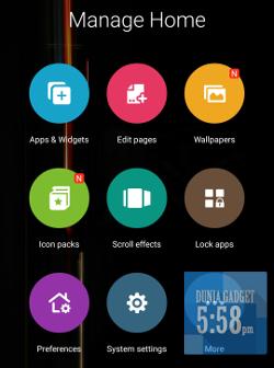Pengaturan tampilan pada Zenfone Selfie