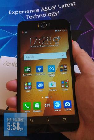 Tampilan layar ASUS Zenfone Selfie