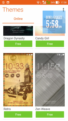 Theme pada Zenfone Selfie
