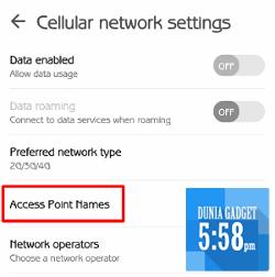 Setting kartu smartfren di Zenfone 2