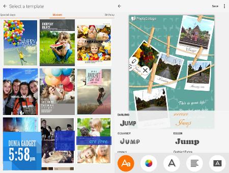 Aplikasi photo collage Zenpad