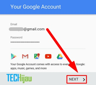 Langkah terakhir membuat GMail di Android