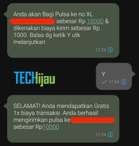 Transfer pulsa xl lewat sms