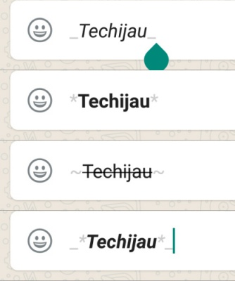Cara membuat teks miring dan tebal WhatsApp
