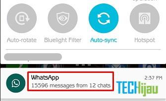 Kirim pesan whatsapp di laptop