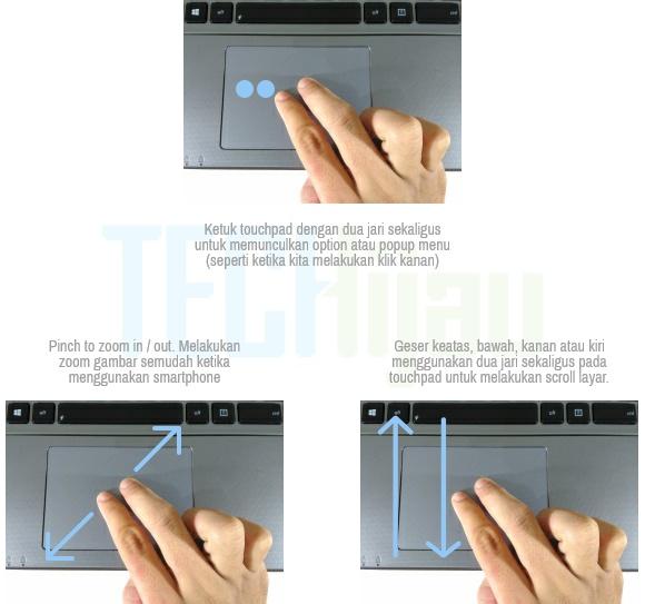Fitur Smart Gesture Laptop ASUS X550ZE