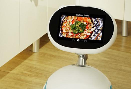 Robot dari ASUS sendang menampilkan resep