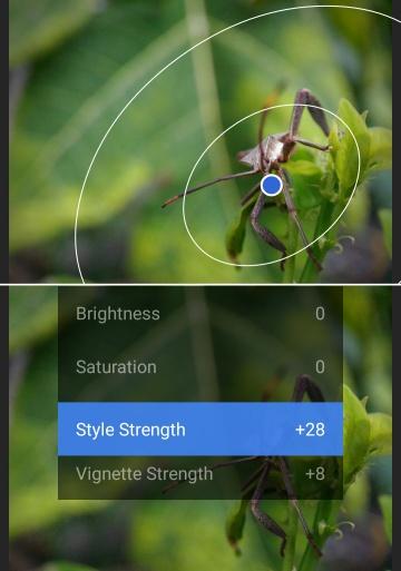 Memberikan efek blur menggunakan Snapseed