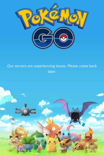 Our servers are experiencing issues Pokemon GO