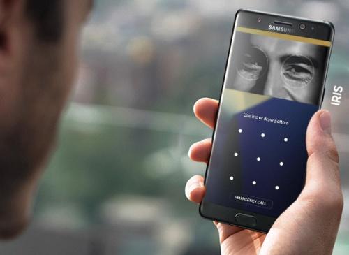 Fitur iris scanner Samsung Galaxy Note7