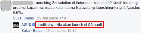 Kapan Zenfone 3 Rilis di Indonesia
