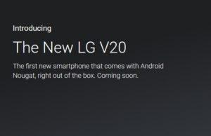 LG V20 Coming soon