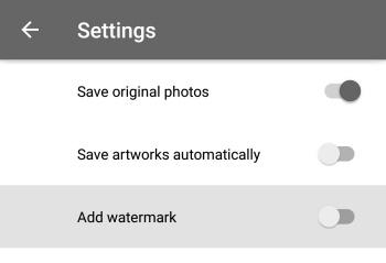 Menyimpan editan prisma tanpa watermark