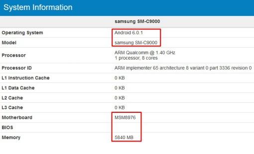 Bocoran Spesifikasi Samsung Galaxy C9