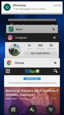 Multitasking di Zenfone 3
