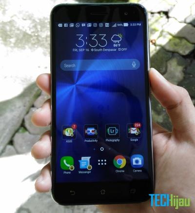 Foto tampak depan Zenfone 3