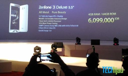 Harga resmi ASUS Zenfone 3 Series