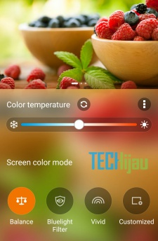Mengatur temperatur layar Zenfone 3