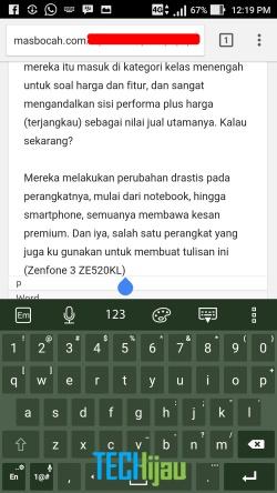 Menggunakan Zenfone 3 untuk ngeblog