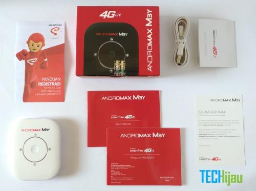 Isi kotak paket penjualan Andromax M3Y