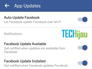 Aplikasi facebook update sendiri