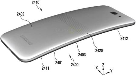 Gambar paten hape bisa dilipat Samsung