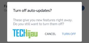 Menghentikan update otomatis facebook