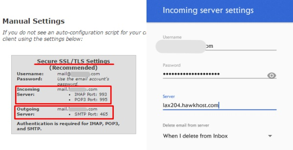 Cara setting email domain di Android