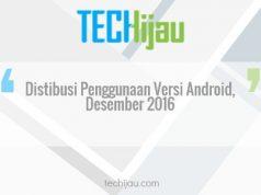 Distribusi penggunaan android desember 2016