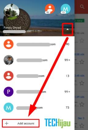 Setting sinkron email domain pribadi pada Android
