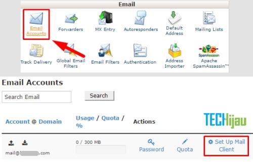 Sinkronisasi email domain di hape Android
