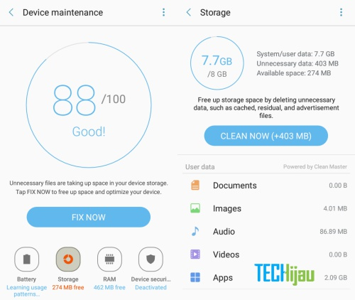 Tips mengatasi not enough space Samsung Marshmallow