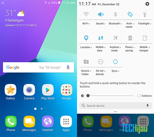 Tampilan Layar Samsung Galaxy J2 Prime