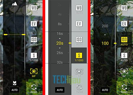 Pilihan manual mode pada kamera Zenfone 3 Max ZC553KL