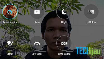 Pilihan mode kamera depan Zenfone 3 Max ZC553KL