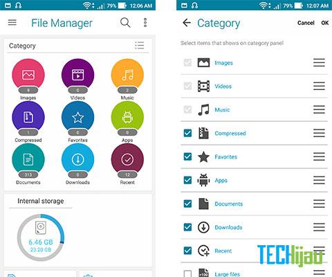 Aplikasi File manager bawaan ASUS