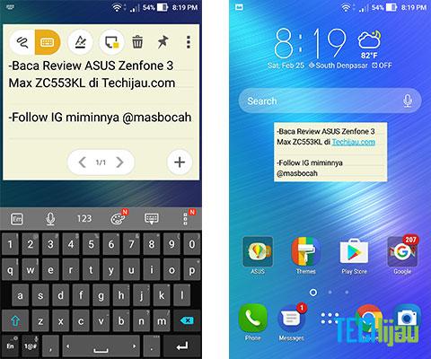 Fitur pada Zenfone 3 Max ZC553KL
