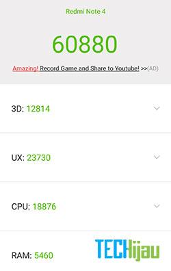 Skor antutu Xiaomi Redmi Note 4